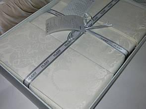 Комплект постільної білизни Clasy Satin Jacquard Cotton сатин-жаккард Євро Grida_V1, фото 3