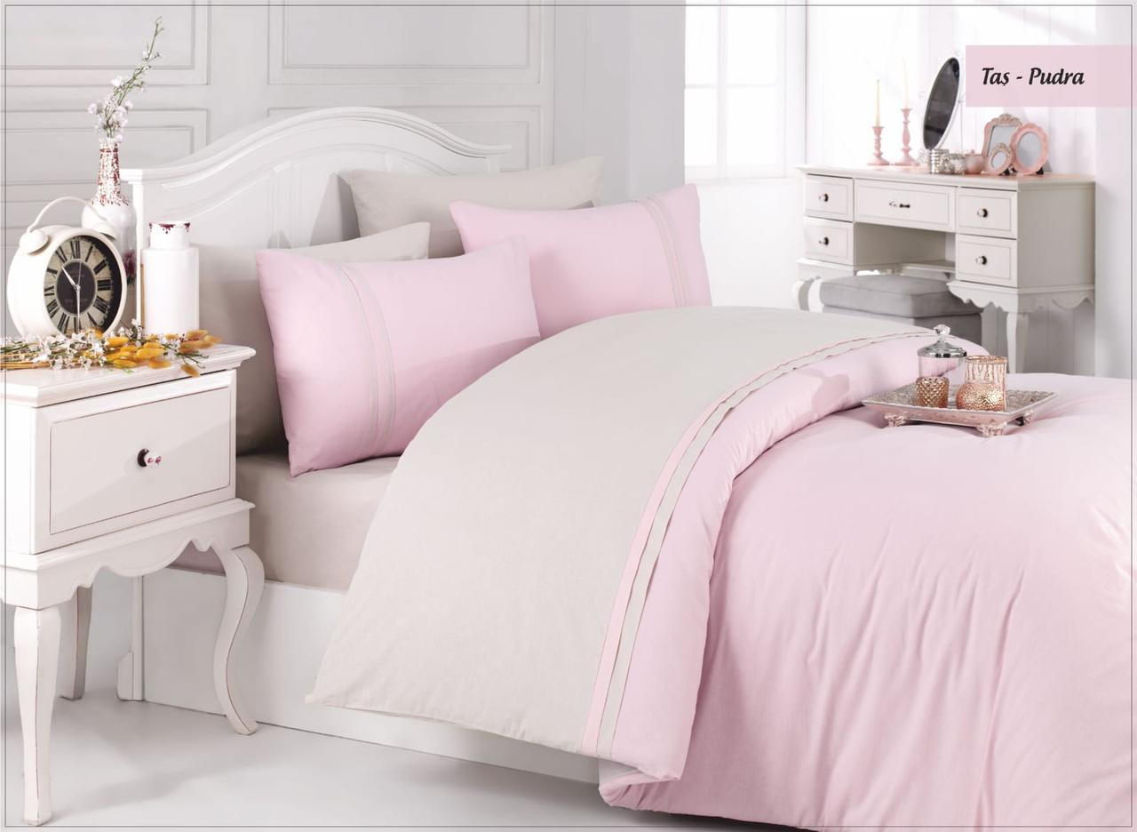 Комплект постельного белья Ecosse Ranforce Евро ранфорс арт.Tas-pudra