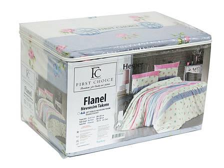Комплект постільної білизни First Choice Flannel фланель євро арт.Hesper, фото 2