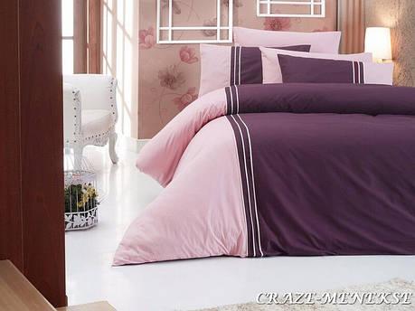 Комплект постельного белья First Choice Ranforce Deluxe Евро ранфорс арт.Craze menekse, фото 2