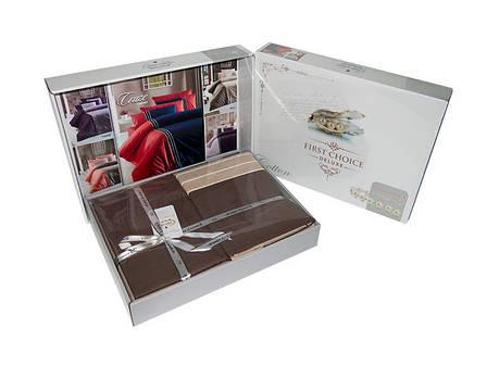 Комплект постільної білизни First Choice Ranforce Deluxe ранфорс євро арт.Meagen Leylak, фото 2