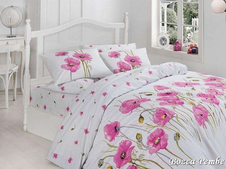 Комплект постельного белья First Choice Ranforce Евро ранфорс арт.Bozca-pembe