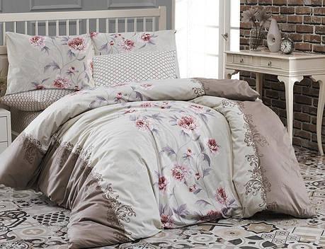 Комплект постельного белья First Choice Ranforce Евро ранфорс арт.Karen kahve, фото 2