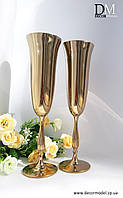 Набор бокалов для шампанского Bohemia Fregata 190 ml (цвет: ЗОЛОТО)