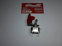 Включатель (тумблер вертолетный) с крышкой красный
