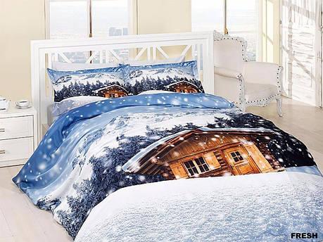 Комплект постельного белья First Choice Satin Cotton 3D Евро сатин арт.Frash, фото 2