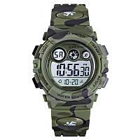 Skmei 1547 kids зеленый камуфляж детские спортивные часы, фото 1