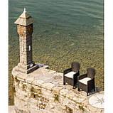 Садовый стул с подушками FOLIA коричневое, фото 2
