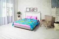 Комплект постельного белья Руно Евро Yellow Cat бязь арт.845.116_Yellow cat