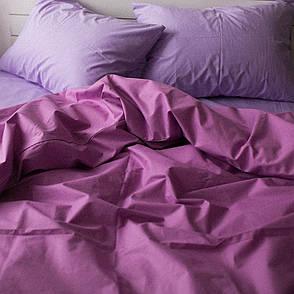 Комплект постельного белья Хлопковые традиции Евро поплин лаванда-сирень арт.PF03, фото 2