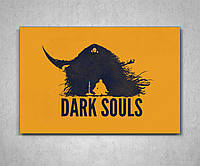 Картина на холсте подарок для геймера Дарк Соулс Dark Souls60х40, фото 1