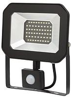 Світлодіодний прожектор SMD чорний з датчиком LU-TURBO-S10 6500K IP65 (48/ящ) TM LUMANO (12міс.гар)