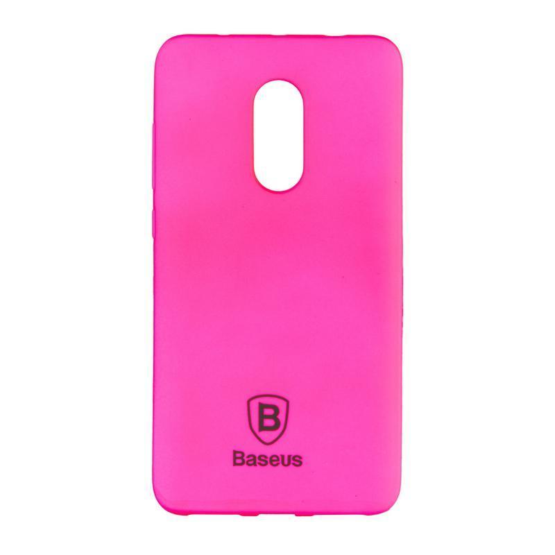 Чехол силиконовый Baseus Soft Colorit для Xiaomi Redmi Note 4x Pink