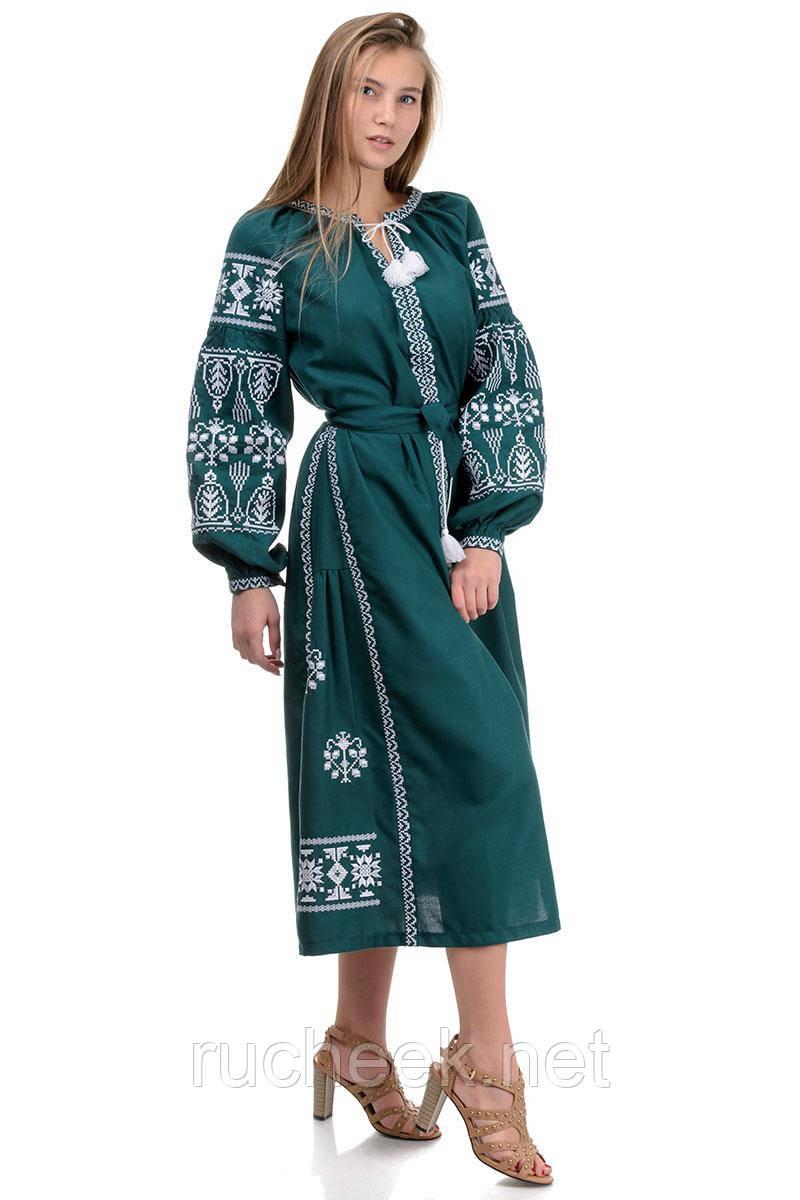 Платье - вышиванка женское длинное размеры S-XL