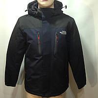 Ветровка куртка мужская легкая в стиле THE NORTH FACE / темно-синяя с черным