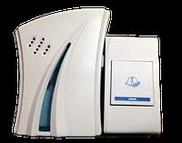 Дзвінок бездрот.кнопка (під акк) +база з вилкою 220V 32мел. DC (без батар.) (1/120) (без обміну)R