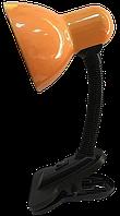 Настольная лампа-прищепка с кнопкой LU-LN-1111 оранжевая TM LUMANО