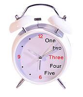Будильник-часы - 1, 2,3 ... белые / прикольный будильник, необычный будильник