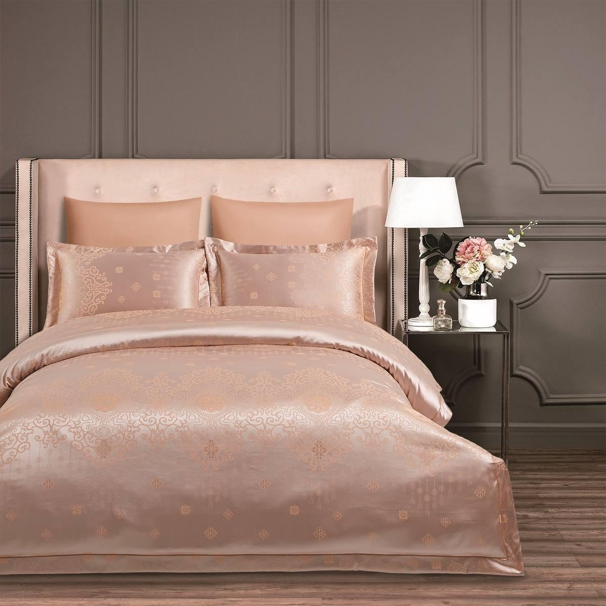 Комплект постельного белья Arya Sensibility семейный сатин-жаккард Celia арт.TR1004135