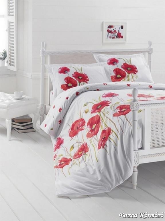 Комплект постельного белья First Choice Ranforce семейный ранфорс арт.Bozca Kirmizi