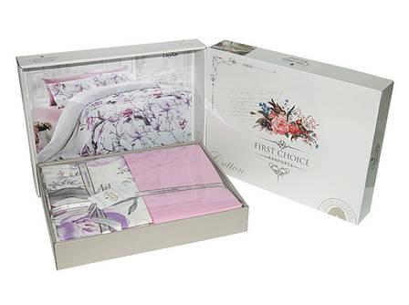 Комплект постельного белья First Choice Ranforce семейный ранфорс арт.Bozca Kirmizi, фото 2
