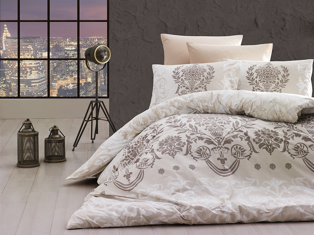 Комплект постельного белья First Choice Ranforce семейный ранфорс арт.Dalyan Ekru