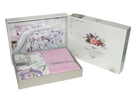 Комплект постельного белья First Choice Ranforce семейный ранфорс арт.Dalyan Ekru, фото 2