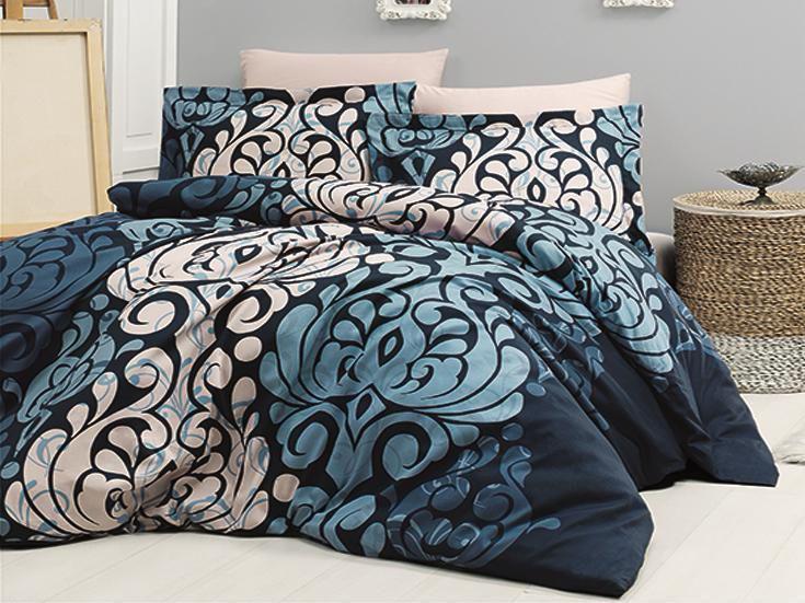Комплект постельного белья First Choice Satin Cotton семейный сатин арт.Laura lacivert