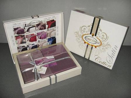 Комплект постельного белья First Choice Satin Cotton семейный сатин арт.Laura lacivert, фото 2