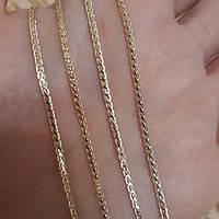 Цепочка колосок  Длина: 45 см Ширина 2 мм, медзолото, медицинское золото