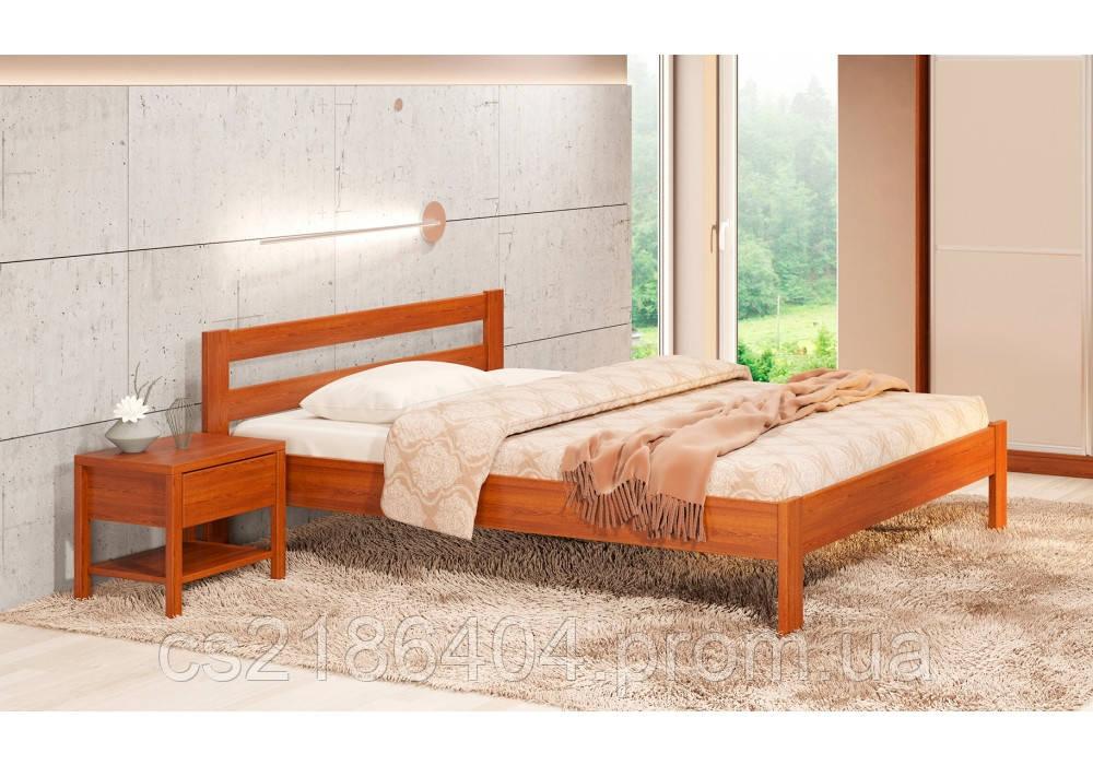 """Дерев'яне двоспальне ліжко 160х200 сосна """"Альпіна"""""""