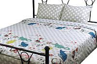 Комплект постельного белья Руно семейный сатин арт.6.137К_Cat