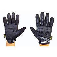 Перчатки тактические с закрытыми пальцами и  усиленным протектором MECHANIX MPACT 3