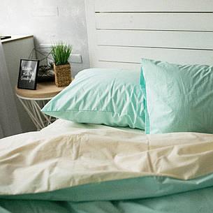 Комплект постельного белья Хлопковые традиции семейный поплин крем/мята арт.PF19, фото 2