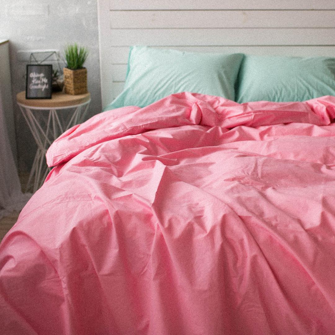 Пододеяльник Хлопковые традиции двуспальный 175*215 см поплин розовый/мята арт.PF10