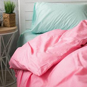 Пододеяльник Хлопковые традиции двуспальный 175*215 см поплин розовый/мята арт.PF10, фото 2
