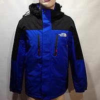 Ветровка куртка мужская легкая в стиле The North Face / синяя с черным