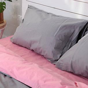 Пододеяльник Хлопковые традиции Евро 200*220 см поплин розовый/темно-серый арт.PF39, фото 2