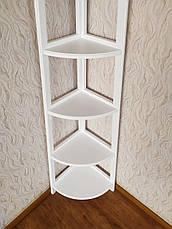 """Белая угловая этажерка из массива дерева от производителя """"Робин - 2"""", фото 3"""