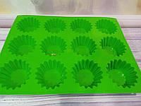 Силиконовая форма для кексов, большая 12 шт