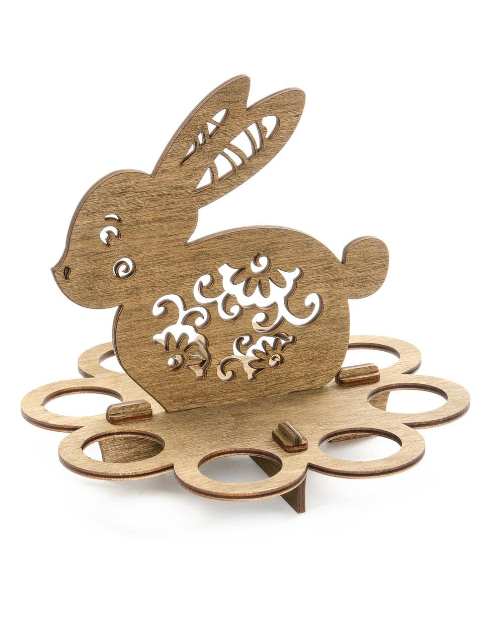 """Подставка деревянная пасхальная на 8 яиц """"Кролик"""""""