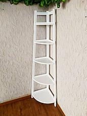 """Белая угловая этажерка из массива дерева от производителя """"Робин - 2"""", фото 2"""
