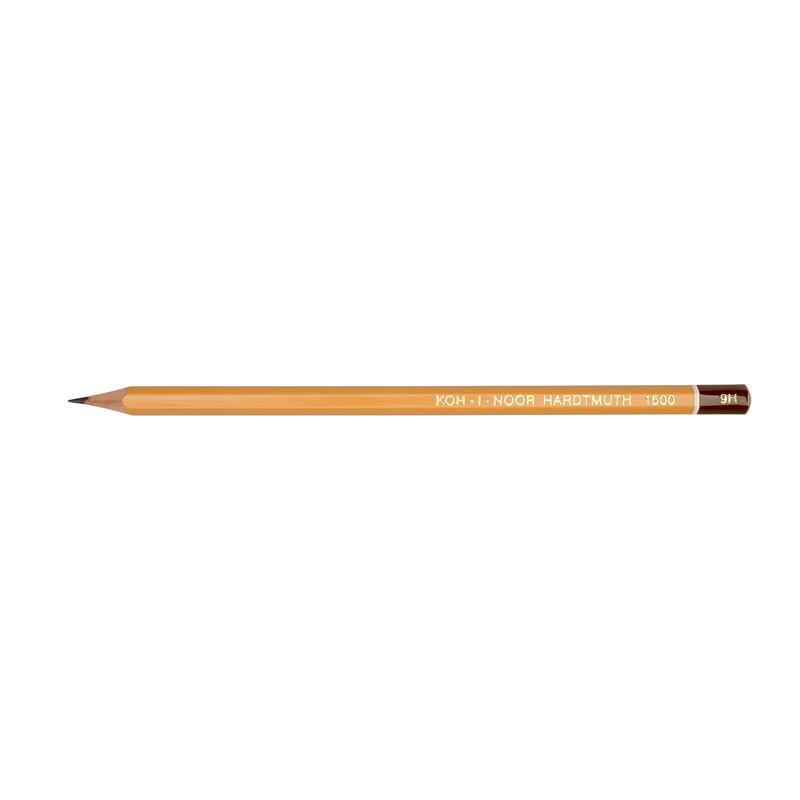 """Олівець чорнографітний """"KIN"""" 1500 9H технічний"""