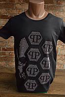 5049-мужская футболка Philip Plain-2020-Лето, фото 1