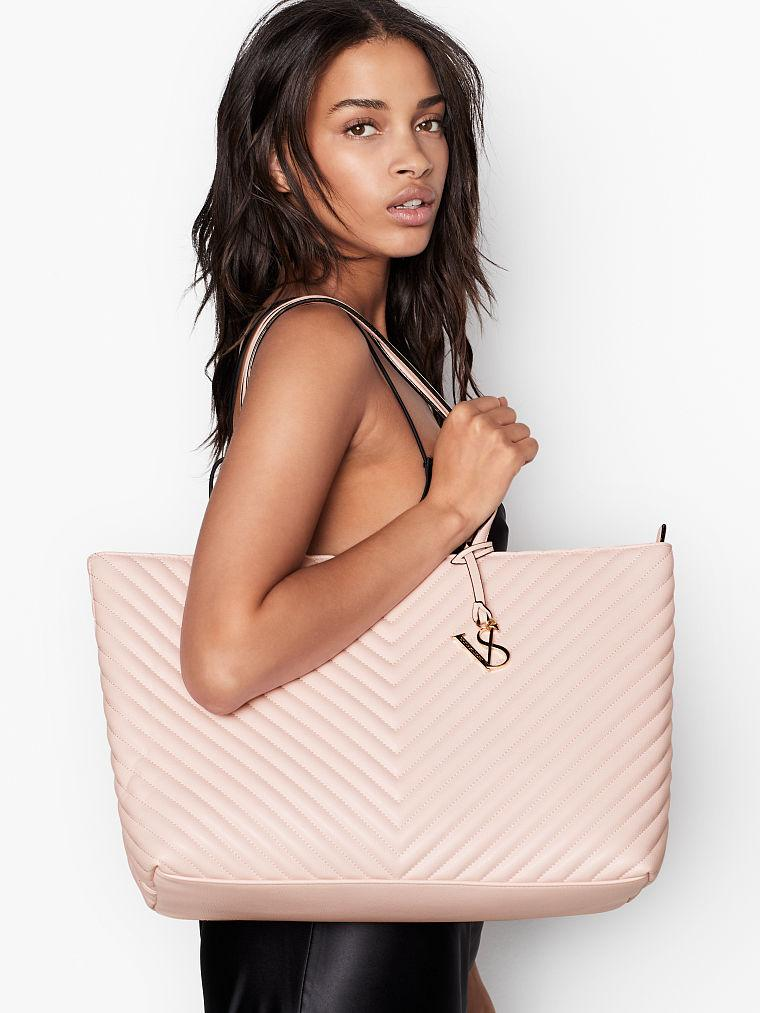 Женская сумка Victoria Secret, оригинал Pebbled V-Quilt Everything Tote