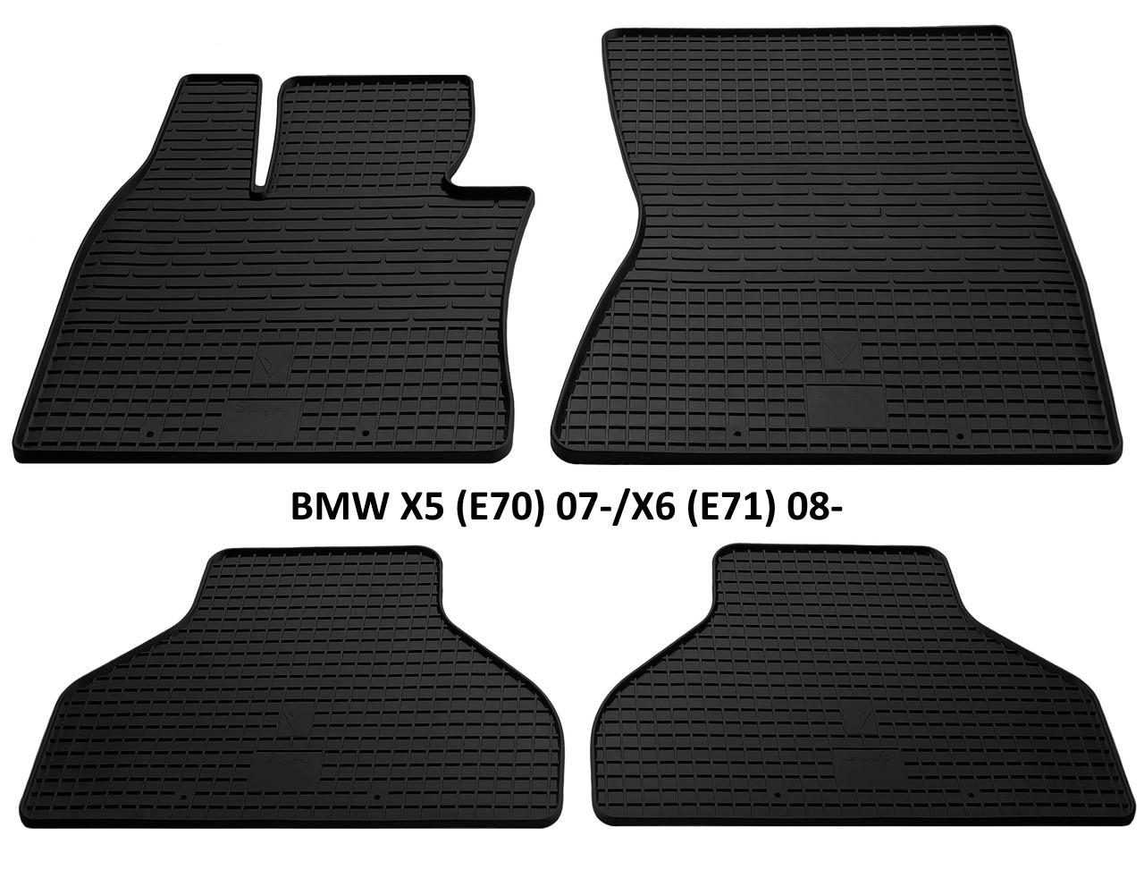 Резиновые автомобильные коврики в салон BMW X5 (E70) 2007 бмв х5 е70 Stingray