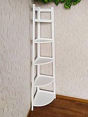 """Белая угловая этажерка из массива дерева от производителя """"Робин - 2"""" Белый, фото 3"""