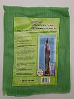 Москитная сетка на дверь с магнитами, зеленый цвет 120-210см.