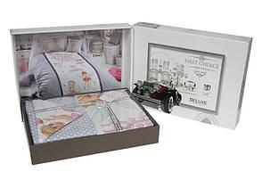 Комплект постельного белья First Choice Ranforce Deluxe 3D полуторный ранфорс подростковый арт.Smile, фото 2