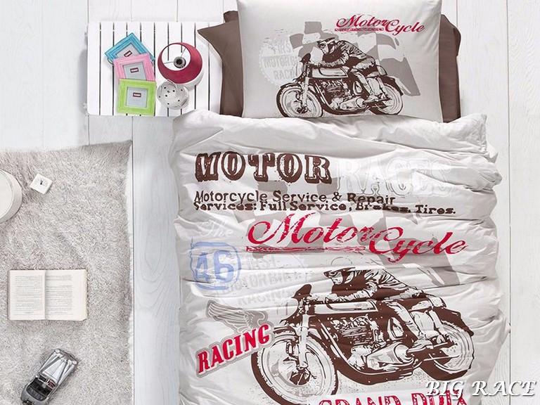 Комплект постельного белья First Choice Ranforce полуторный ранфорс подростковый арт.Big Race